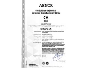 Sotrafa - Сертифікат відповідності