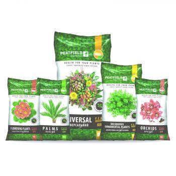 Торфяной субстрат для комнатных растений (ТМ PEATFIELD)