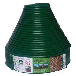 Пластиковый садовый бордюр Gartec Экобордюр Оптимальный Тип 2 10,3 см 20 м