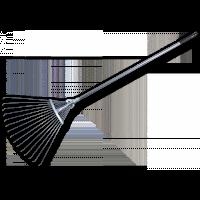 Грабли веерные регулируемые Bradas KT-W120-1 15 зубцов 19-55 см
