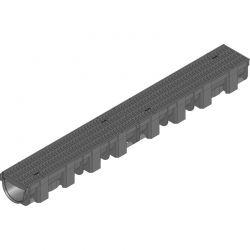 Пластиковый ливневой желоб Hauraton TOP X 119х89х1000 мм с пластиковой решеткой (MW 8/21)