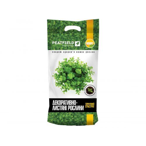 Торфяной субстрат PEATFIELD HOBBY для декоративно-лиственных растений 20 л