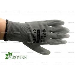 Перчатки рабочие садовые Bradas PURE GRAY размер 8 (M)