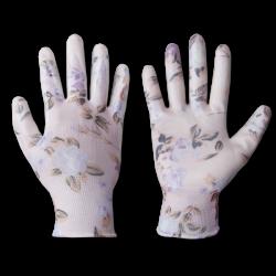 Перчатки садовые нитриловые Bradas NITROX FLOWERS размер 7 (S)