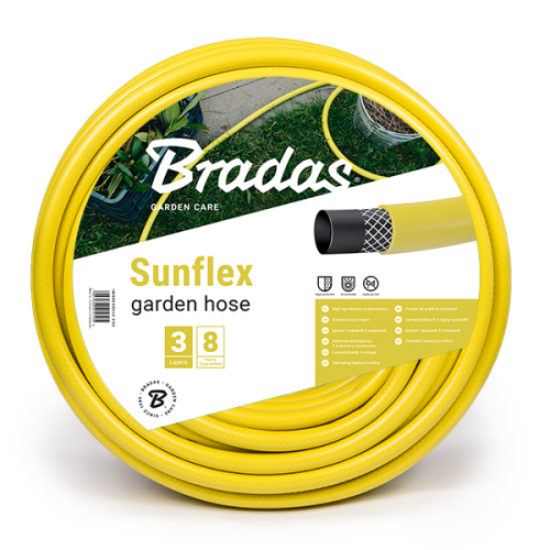 """Поливочный шланг Bradas SUNFLEX 1/2"""" 30 м желтый (WMS1/230)"""