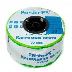 Капельная лента эмиттерная Presto-PS 3D Tube 7 mil 20 см 2,7 л/ч 500 м