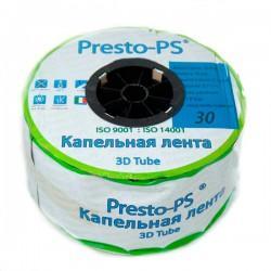 Капельная лента эмиттерная Presto-PS 3D Tube 7 mil 30 см 2,7 л/ч 500 м