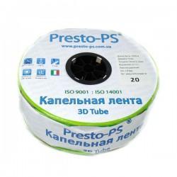 Капельная лента эмиттерная Presto-PS 3D Tube 7 mil 20 см 2,7 л/ч 2000 м