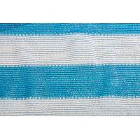Сетка затеняющая бело-голубая KARATZIS 65% 4х50 м