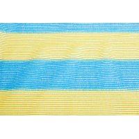 Сетка затеняющая желто-голубая KARATZIS 65% 4х50 м