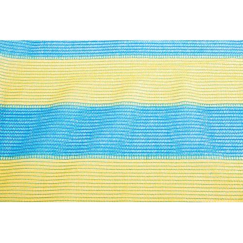 Сетка затеняющая желто-голубая KARATZIS 65% 6х50 м