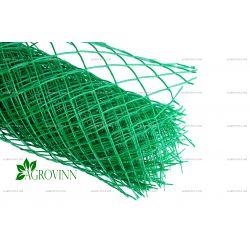Пластиковая сетка для ограждения Клевер ромб 50х50 мм 1,4x20 м