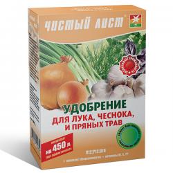 Минеральное удобрение «Чистый лист» для лука, чеснока и пряных трав 300 г