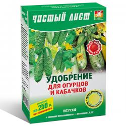 Минеральное удобрение «Чистый лист» для огурцов и кабачков 300 г