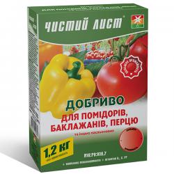Минеральное удобрение «Чистый лист» для помидоров и перца 1,2 кг