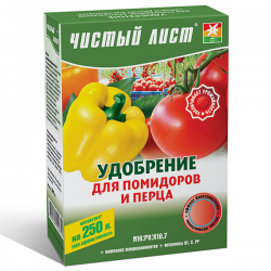 Минеральное удобрение «Чистый лист» для помидоров и перца 300 г