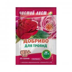 Минеральное удобрение «Чистый лист» для роз 20 г