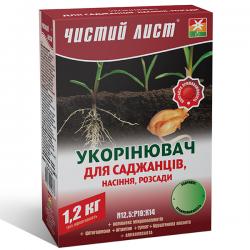 Минеральное удобрение «Чистый лист» укоренитель для саженцев, семян и рассады 1,2 кг