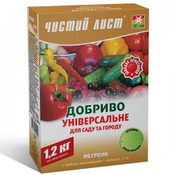 Минеральное удобрение «Чистый лист» универсальное для сада и огорода 1,2 кг