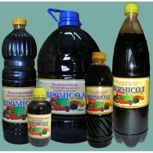 Жидкое органическое удобрение Вермисол для сада и огорода 1,5 л